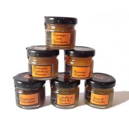 Pack Degustación de 6 Mermeladas Artesanales 30gr