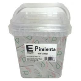 Cubo con 700 sobres de Pimienta de 0,2 grs