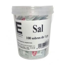Vaso con 100 sobres de Sal de 1gr